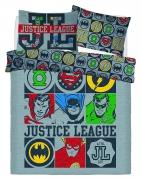 Justice League Vintage Icons Panel Double Bed Duvet Quilt Cover Set