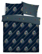 Harry Potter House Colours Panel Double Bed Duvet Quilt Cover Set