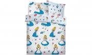 Disney Alice In Wonderland Falling Reversible Rotary Single Bed Duvet Quilt Cover Set