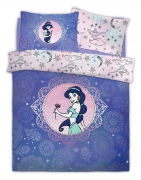 Disney Aladdin Pretty As Paisely Princess Jasmine Panel Double Bed Duvet Quilt Cover Set