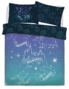 Harry Potter Celestial Magic Panel Double Bed Duvet Quilt Cover Set