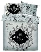 Harry Potter Marauders Map Panel King Bed Duvet Quilt Cover Set