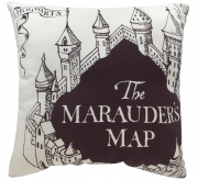 Harry Potter The Marauders Map Square Shaped Filled Printed Cushion