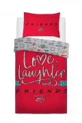 Friend Love Laughter Panel Single Bed Duvet Quilt Cover Set
