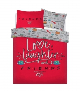 Friend Love Laughter Panel King Bed Duvet Quilt Cover Set