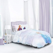 Disney Frozen 2 Watercolour Kids Reversible Panel Single Bed Duvet Quilt Cover Set