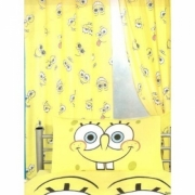 Spongebob Squarepants 'Smiles' 66 X 54 inch Drop Curtain Pair
