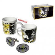 Rocky 'Italian Stallion' Mug and Cufflinks Box Gift Set