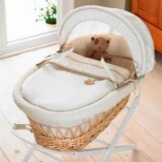 Izziwotnot Cream Gift Range Wicker Moses Basket Dressing Set C.g Light