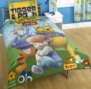 Disney My Friends Tigger & Pooh Panel Single Bed Duvet Quilt Cover Set
