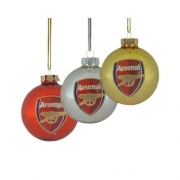 Arsenal Fc Football Baubles Official Christmas