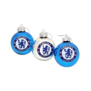 Chelsea Fc Football Baubles Official Christmas