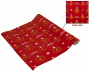 Manchester United Xmas Bauble Fc Football Gift Wrap Official Christmas