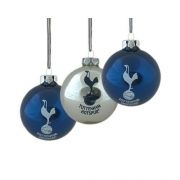 Tottenham Hotspur Fc 3pack Football Baubles Official Christmas