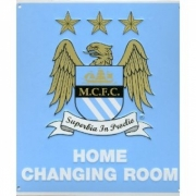 Manchester City Fc Football Home Changing Room Sign Official Board