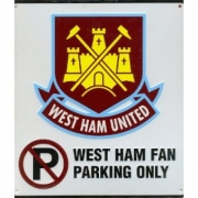 West Ham Fc Football No Parking Sign Official Board