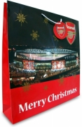 Arsenal Fc Football Paper Gift Bag Official Christmas