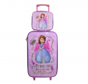 Disney 'Sofia The First' 2 Piece Suitcase with Lunch Bag Luggage Set