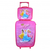 Disney 'Princess & Friends' 2 Piece Suitcase with Lunch Bag Luggage Set