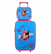 Disney Minnie Mouse 'Pretty Bows' 2 Piece Suitcase with Lunch Bag Luggage Set