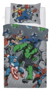 Marvel Comics 'Break Thru' Rotary Single Bed Duvet Quilt Cover Set