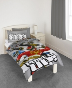 Power Rangers 'Power Up' Panel Single Bed Duvet Quilt Cover Set
