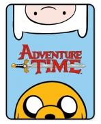 Adventure Time Panel Fleece Blanket Throw