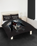 Assassin'S Creed ' Unity' Panel Double Bed Duvet Quilt Cover Set