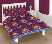 West Ham United Fc Football Rotary Official Double Bed Duvet Quilt Cover Set