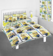 Minions 'Let' S Try Harder' Rotary Double Bed Duvet Quilt Cover Set