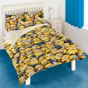 Despicable Me Minions Rotary Double Bed Duvet Quilt Cover Set