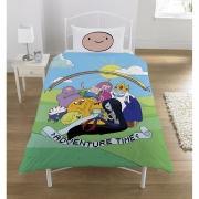 Adventure Time 'Group' Panel Single Bed Duvet Quilt Cover Set
