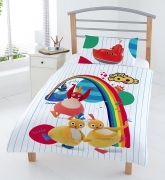 Twirly Woos 'Friends' Panel Junior Cot Bed Duvet Quilt Cover Set
