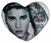 Justin Bieber 'What Do You Mean' Heart Shaped Cushion