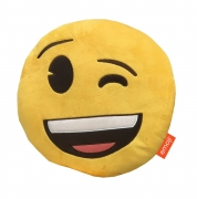 Emoji Emoticons 'Winking' Round Plush Shaped Cushion