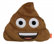 Emoji Emoticons 'Poo' Poop Plush Shaped Cushion