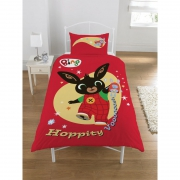 Bing Bunny 'Hoppity Vooosh' Panel Single Bed Duvet Quilt Cover Set