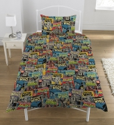 Doctor Who 'Comic' Rotary Single Bed Duvet Quilt Cover Set