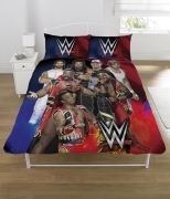 WWE 'Super 7' Panel Double Bed Duvet Quilt Cover Set