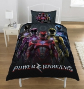 Power Rangers 'Power Within' Reversible Panel Single Bed Duvet Quilt Cover Set