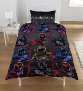 Power Rangers 'Block' Reversible Rotary Single Bed Duvet Quilt Cover Set