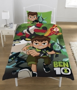 Ben 10 'Hero' Reversible Panel Single Bed Duvet Quilt Cover Set