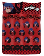 Miraculous Ladybug 'Spots' Rotary Double Bed Duvet Quilt Cover Set