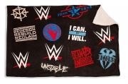 WWE Sherpa Panel Fleece Blanket Throw