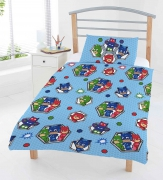 Disney Pj Masks 'Badges' Reversible Rotary Junior Cot Bed Duvet Quilt Cover Set