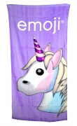 Emoji 'Unicorn' Printed Beach Towel