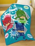 Disney Pj Masks 'Time To Be a Hero' Panel Fleece Blanket Throw