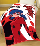 Miraculous 'Ladybug' Panel Fleece Blanket Throw