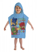 Pj Masks Calling All Heroes' Hooded Kids Multi-colour Poncho Towel