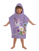 Emoji 'Unicorn' Hooded Kids Multi-colour Poncho Towel